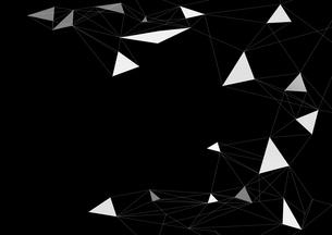 黒バックと白のポリゴン模様の写真素材 [FYI01468691]