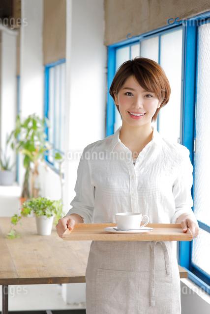 ウエイトレスの若い女性の写真素材 [FYI01468926]