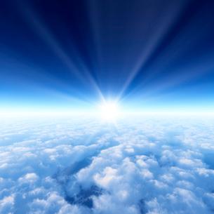 青空と雲海の写真素材 [FYI01470102]