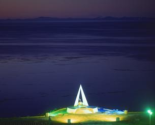 宗谷岬とサハリン遠望の写真素材 [FYI01470863]
