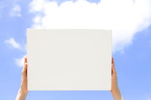 空とキャンバスの写真素材 [FYI01471733]