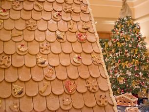 クリスマスケーキとクリスマスツリーの写真素材 [FYI01472053]