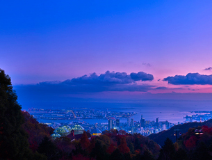 神戸市街夜景の写真素材 [FYI01472296]
