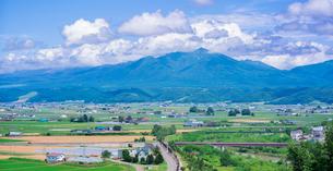 富良野点景  十勝岳連峰と富良野盆地を望むの写真素材 [FYI01472416]