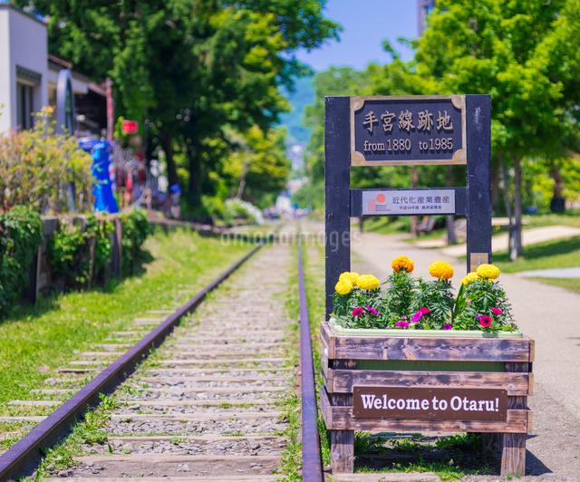 小樽市街点景 (旧手宮線跡)の写真素材 [FYI01472873]
