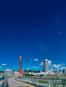 神戸ポートタワーとノートルダム神戸とホテルオークラの写真素材 [FYI01473229]