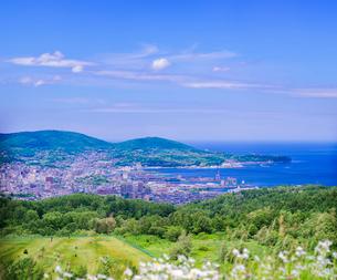 小樽市街遠望 (ワインの丘展望所)の写真素材 [FYI01473342]