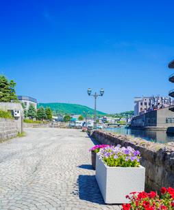 快晴の小樽運河 (北運河)の写真素材 [FYI01473512]