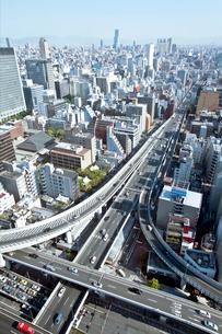 本町ビル群と大阪市街(ナンバ・天王寺方面)の写真素材 [FYI01474182]