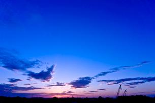 夕焼けの空の写真素材 [FYI01474765]