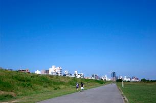 河川敷の風景の写真素材 [FYI01475068]