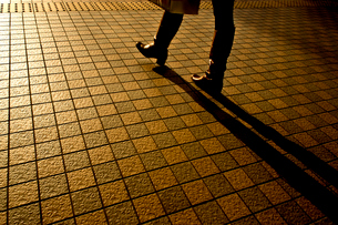 タイル貼りの歩道の写真素材 [FYI01475827]