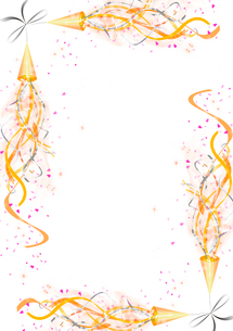 クラッカーのフレームのイラスト素材 [FYI01475865]