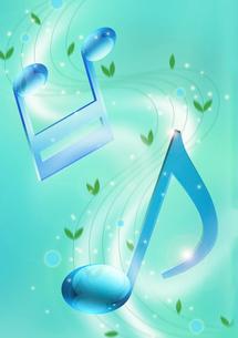 音符と緑のイラスト素材 [FYI01476052]