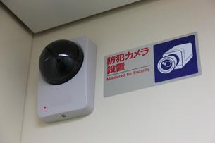 エレベーター内の防犯カメラの写真素材 [FYI01476662]