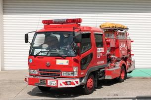 大阪市消防局の消防車 救助車の写真素材 [FYI01477580]