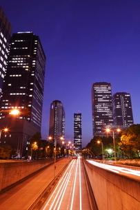 大阪ビジネスパークの夜景 OBPの写真素材 [FYI01477683]