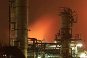 川崎の工場夜景の写真素材 [FYI01478112]