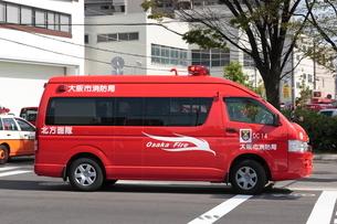 大阪市消防局の消防車 指揮車の写真素材 [FYI01478225]