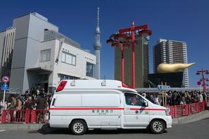 浅草の救急車の写真素材 [FYI01478247]
