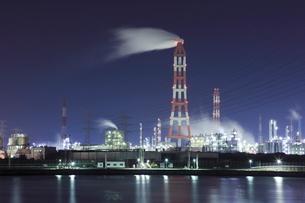 鹿嶋の工場夜景の写真素材 [FYI01478489]