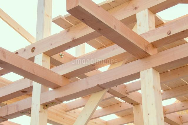 建築中の木造住宅の写真素材 [FYI01478733]