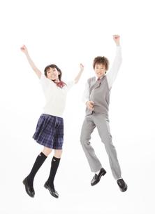ジャンプする中学生の写真素材 [FYI01478917]