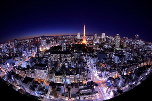 東京の夜景の写真素材 [FYI01479123]
