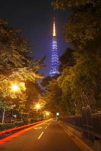 東京タワーのライトアップ 夜景の写真素材 [FYI01479175]