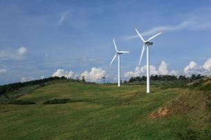 グリーンパワーくずまき風力発電所の写真素材 [FYI01479600]