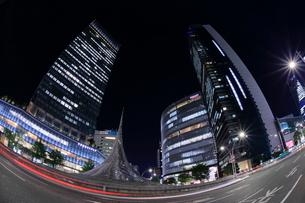名古屋駅前の夜景の写真素材 [FYI01479642]