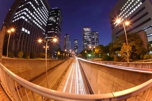 大阪ビジネスパークの夜景 OBPの写真素材 [FYI01479806]