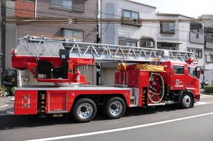 大阪市消防局の消防車 ハシゴ車の写真素材 [FYI01479834]