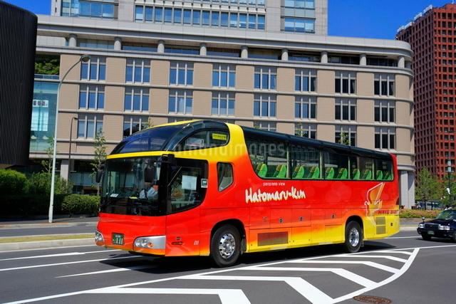 都心の観光バスの写真素材 [FYI01479837]