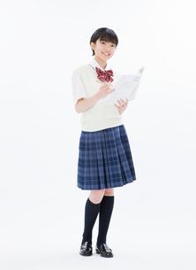 女子中学生ポートレートの写真素材 [FYI01479978]