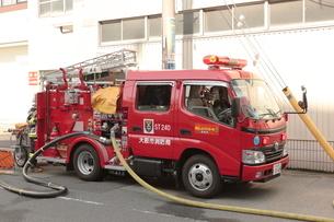 大阪市消防局の消防車 ポンプ車の写真素材 [FYI01481381]