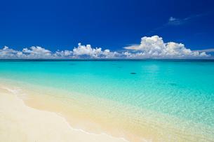 エメラルドグリーンの海 来間島 長間浜の写真素材 [FYI01481400]