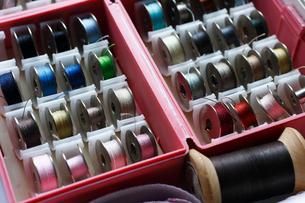 整理されたミシン糸の写真素材 [FYI01481952]