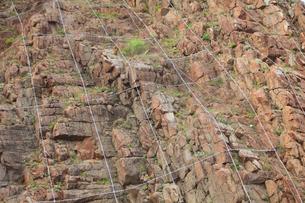 素材 岩石と金網の写真素材 [FYI01482693]