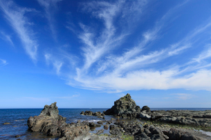 千畳敷海岸 鷲岩と鎧岩の写真素材 [FYI01482920]