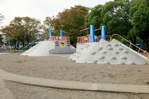 萩中公園 砂場の写真素材 [FYI01483622]