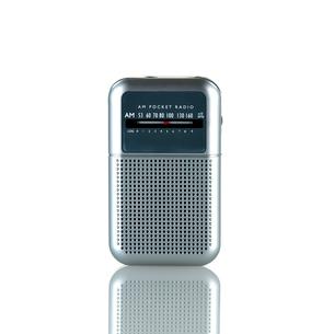 白い背景のラジオの写真素材 [FYI01484521]
