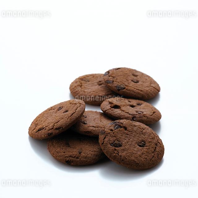 チョコレートクッキーの集合の写真素材 [FYI01485048]