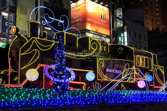 新橋駅前 SL広場のイルミネーションの写真素材 [FYI01485365]