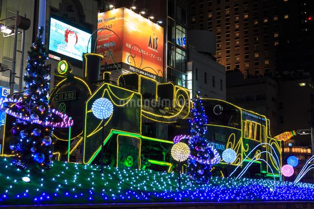 新橋駅前 SL広場のイルミネーションの写真素材 [FYI01485897]