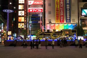 新橋駅前 SL広場のイルミネーションの写真素材 [FYI01485935]