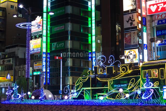 新橋駅前 SL広場のイルミネーションの写真素材 [FYI01486038]