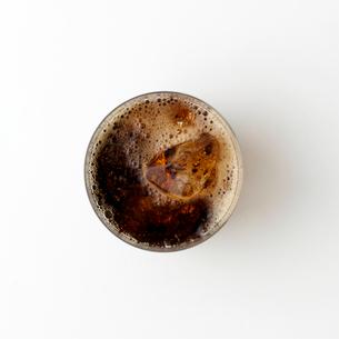 真上から見たコーラの写真素材 [FYI01486634]