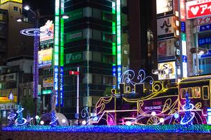 新橋駅前 SL広場のイルミネーションの写真素材 [FYI01487186]
