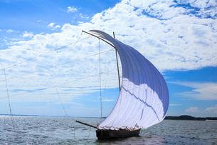 霞ヶ浦帆引き船の写真素材 [FYI01487389]